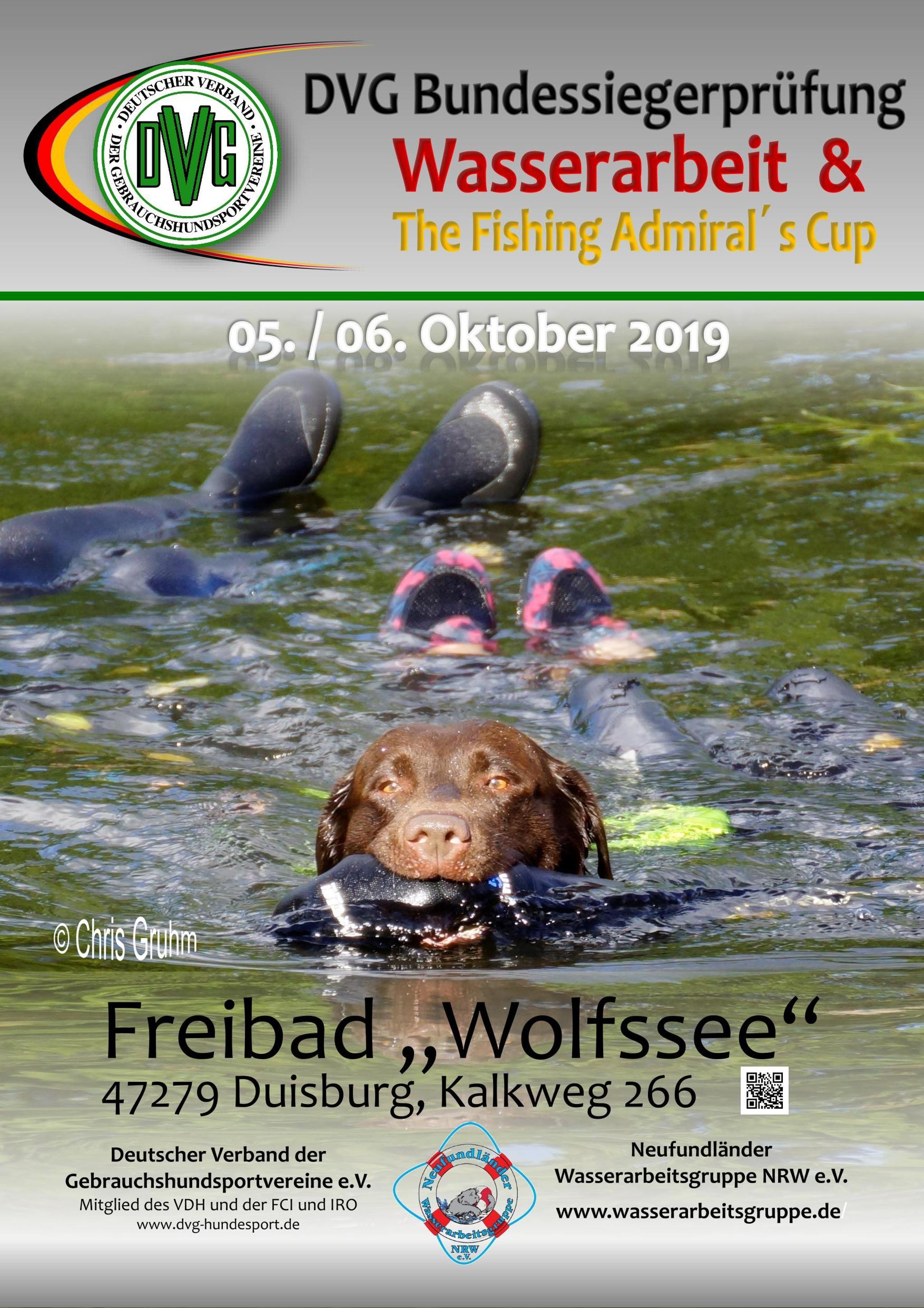 DVG Bundessiegerprüfung Wasserarbeit 2019 / Fishing Admirals @ Neufundländer Wasserarbeitsgruppe NRW
